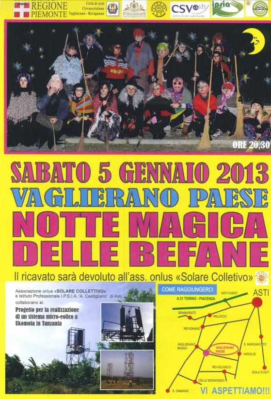 Notte magica delle befane a Vaglierano, Asti