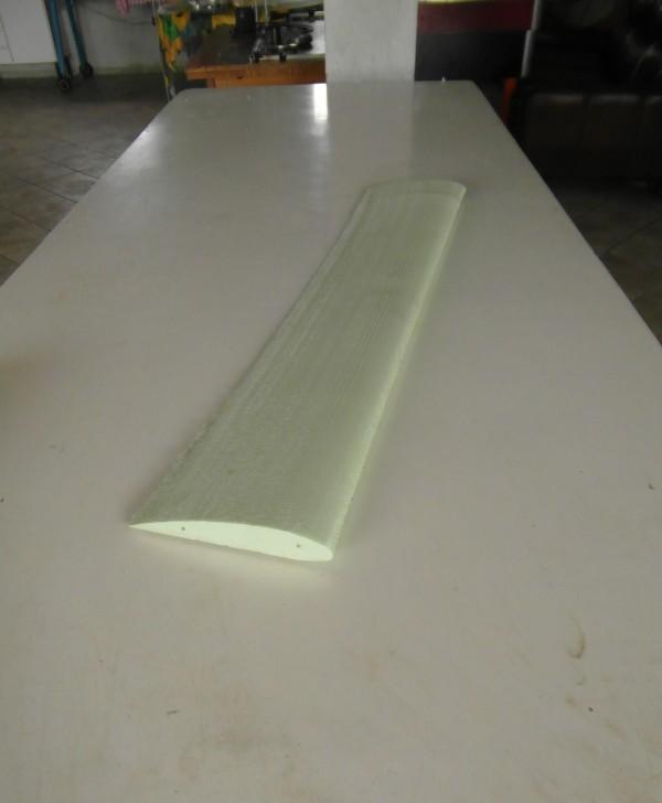 Styrofoam hot wire cutted blade