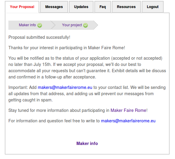 makerfaire proposal submitted