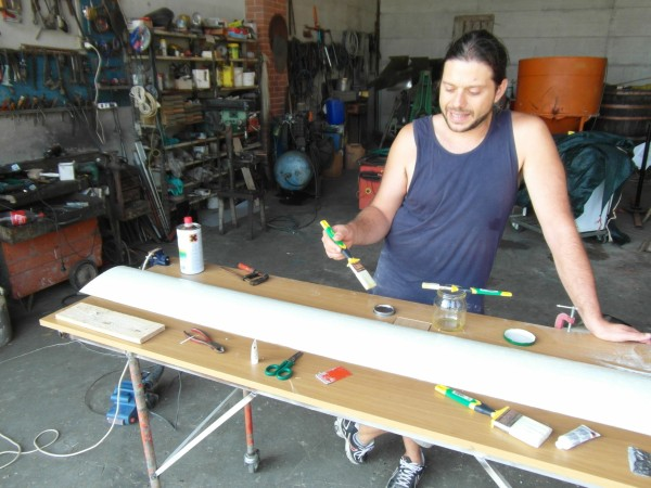 Painting new blades